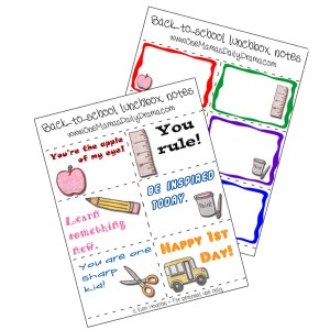 Printable lunch box notes freebie