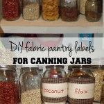 Fabric pantry labels for canning jars