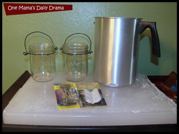 homemade candles supplies