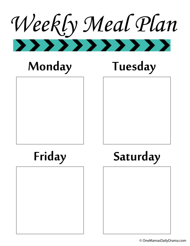 All-in-one menu planning system