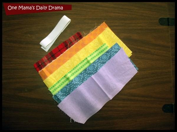 rainbow headband supplies