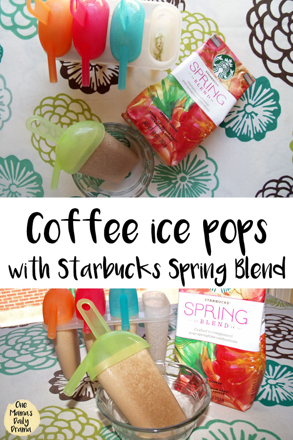 coffee ice pops recipe made with Starbucks Spring Blend