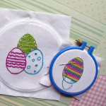 Easter egg embroidery for kids
