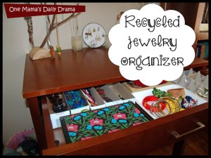 Would you dig through the trash to organize your treasure? Recycled jewelry holder diy by One Mama's Daily Drama