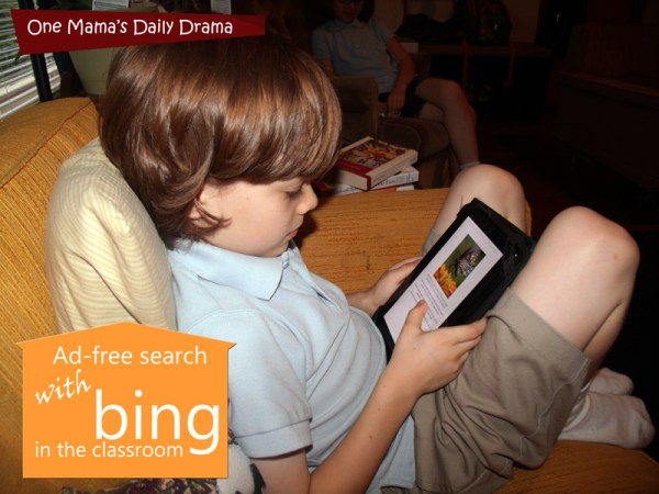 Bing in the Classroom offers #adfreesearch for kids and schools. | One Mama's Daily Drama