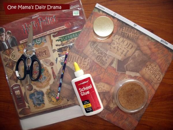 DIY decoupage coasters supplies