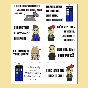 Doctor Who lunch box notes
