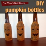 DIY pumpkin bottles