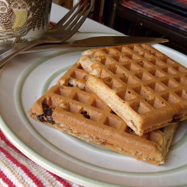 Cinnamon raisin waffles