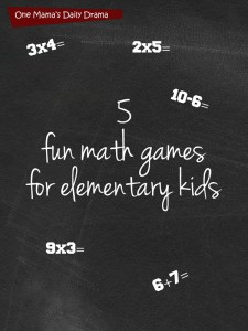Math games for elementary