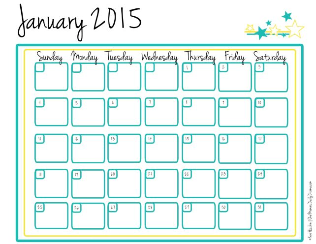 Free printable planner and calendar for 2015 - the year of getting organized! | One Mama's Daily Drama