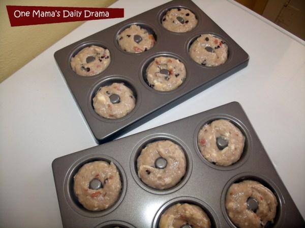 Chocolate cherry baked doughnut recipe | One Mama's Daily Drama