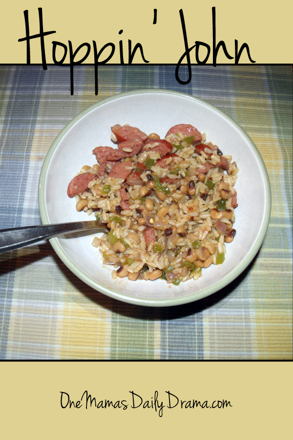 Hoppin john recipe: black-eyed peas, rice, bacon, and sausage | One Mama's Daily Drama