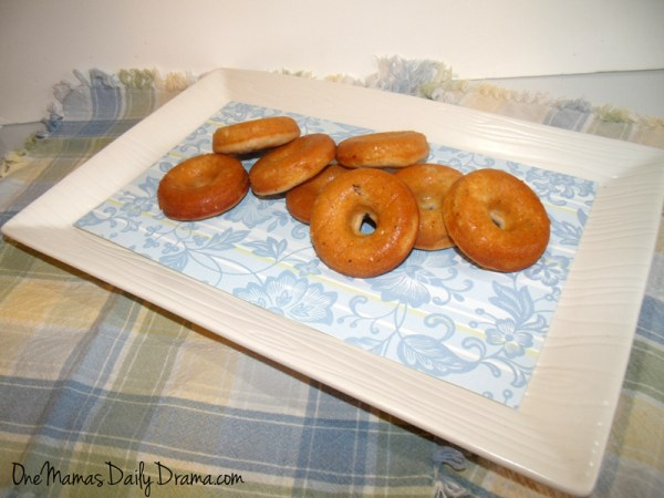 blueberry yogurt doughnuts - baked donut recipe | One Mama's Daily Drama
