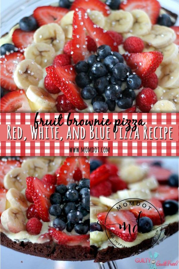 Red, white and blue fruit pizza | Mom Dot