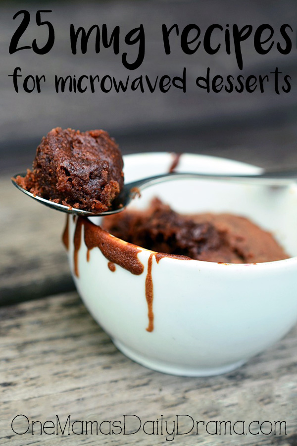25 mug recipes for microwaved desserts
