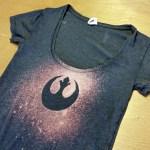DiY Star Wars rebel bleach tee