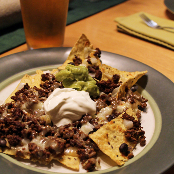 Loaded oven nacho recipe