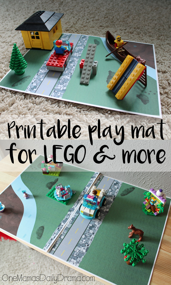 Printable play mat for LEGO + more