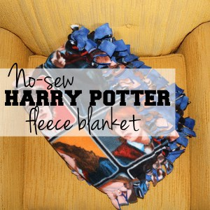 No-sew Harry Potter fleece blanket