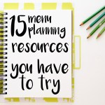 15 menu planning resources