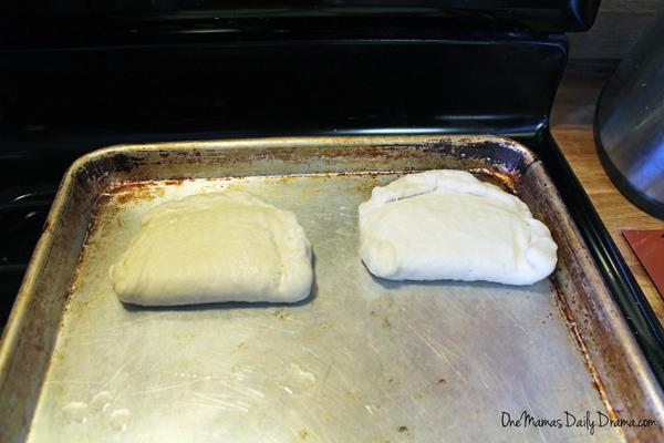 Pretzel pocket sandwich recipe | One Mama's Daily Drama --- Make your own ham and swiss hot pockets with a pretzel crust.
