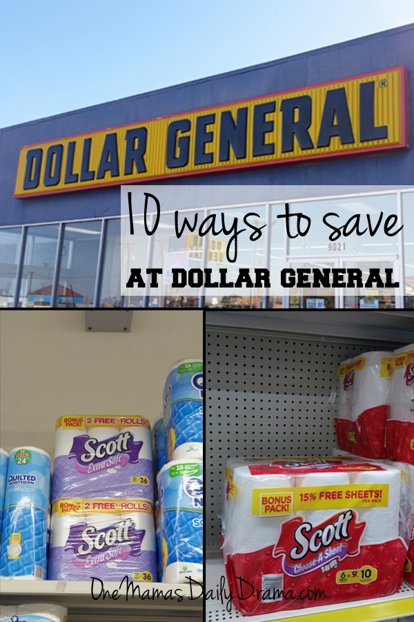 10 ways to save at Dollar General | One Mama's Daily Drama