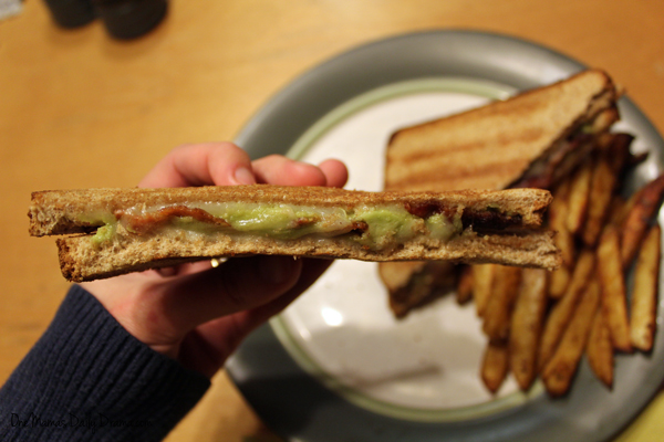 Bacon avocado grilled cheese sandwich | from One Mama's Daily Drama