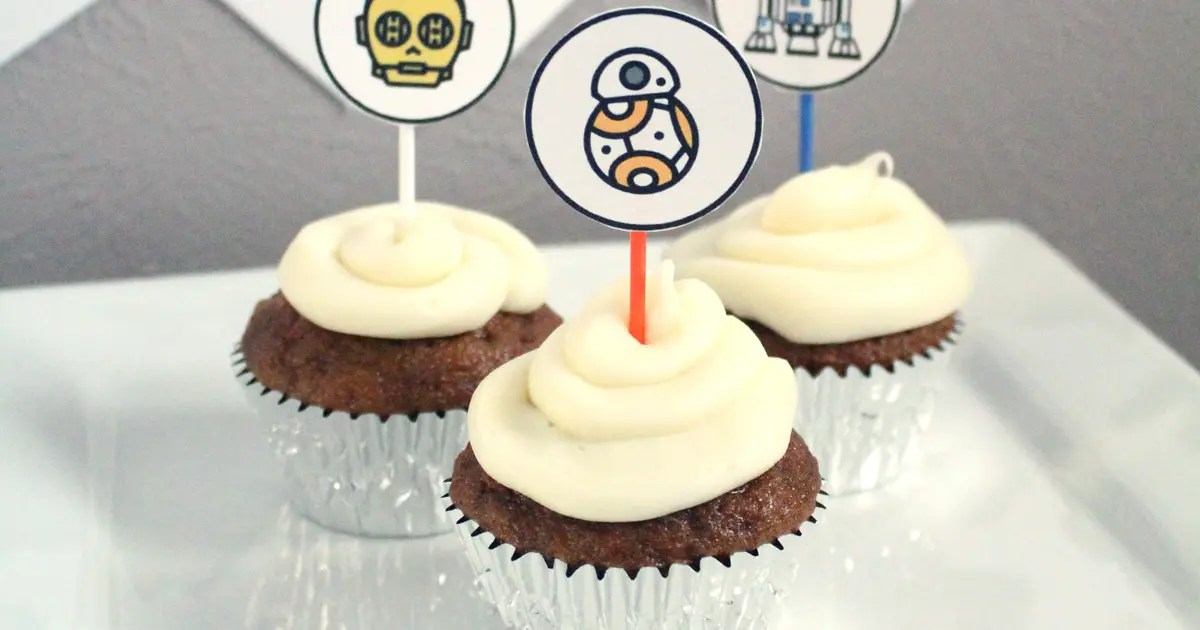 Star Wars cupcakes printable toppers