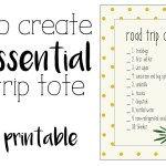 How to create an essential road trip tote