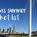 Dallas summer bucket list for families