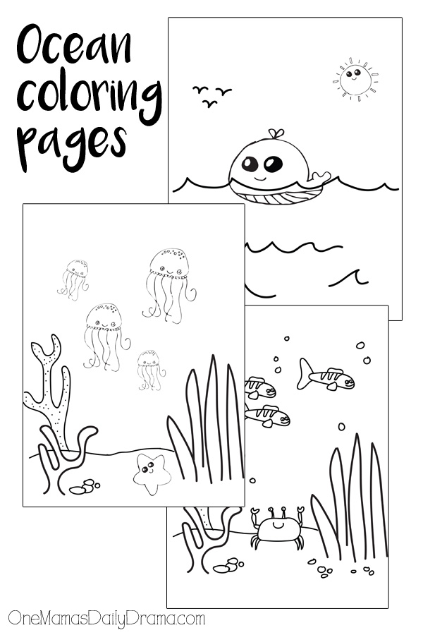 Download 6 printable ocean coloring pages inspired by Finding Nemo