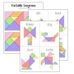 Printable tangrams + challenge cards make a fun kids activity or DiY gift idea.