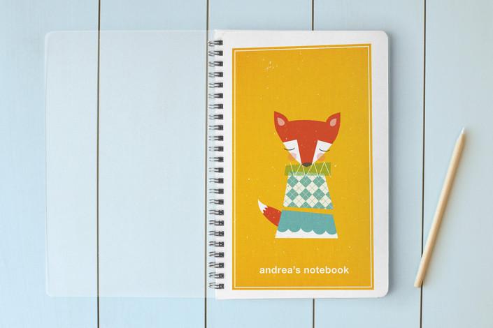 Minted.com fox spiral notebook