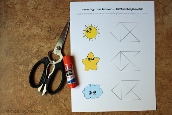 Kawaii corner bookmarks | step 1: print