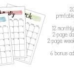2017 printable planner