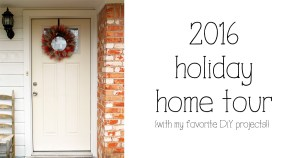2016 holiday home tour at One Mama's Daily Drama | Pretty pictures & links to DiY these projects on your own!