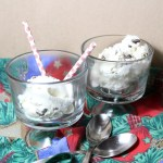 No-churn peppermint chocolate chip ice cream
