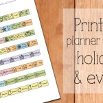 Free printable planner stickers: holidays & events