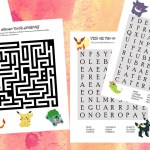 Free printable Pokémon puzzles – maze and word search