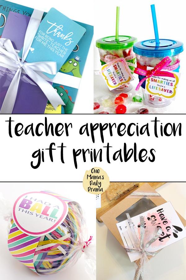 Free printable teacher appreciation gift printables