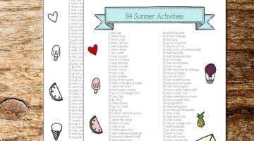 84 kids activities for summer