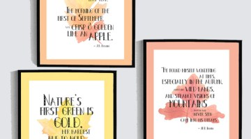 Printable autumn wall art quotes {free download}