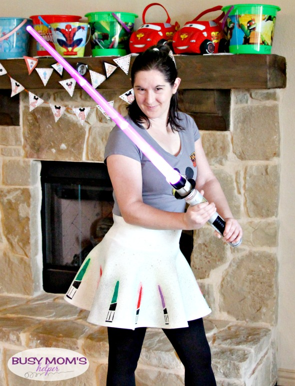 DiY lightsaber skirt from Busy Mom's Helper