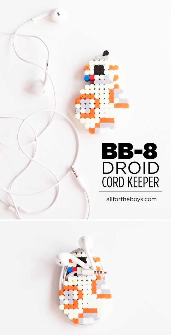 BB-8 droid cord keeper craft from All for the Boys