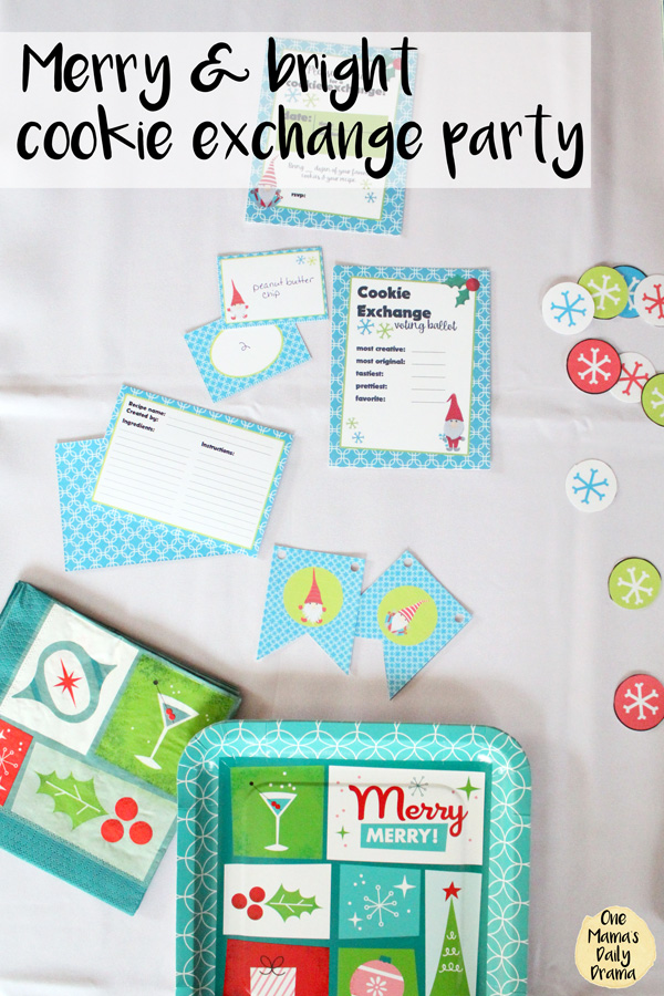Merry and bright cookie exchange party / Free cookie swap printables