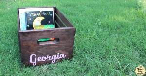 DiY book box tutorial / easy gorgeous baby shower gift idea