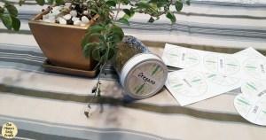 Printable jar labels for dried herbs