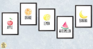 Printable fruit wall art {free download}