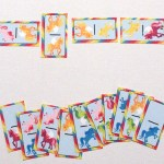 Printable rainbow unicorn dominoes